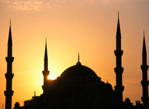 Sunset Behind Blue Mosque